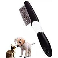 Peine de pulgas extra fino para peine de dientes y quitamanchas para perros, gatos, gatitos, pelo largo y corto