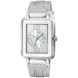 Custo Watches CU027601Leather Lady Quartz Watch-White