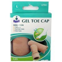 Oppo Gel Toe and Finger Cap, Size : Large, Model No : 6704 - 2 / Pack by LA POINTIQUE INT'L LTD