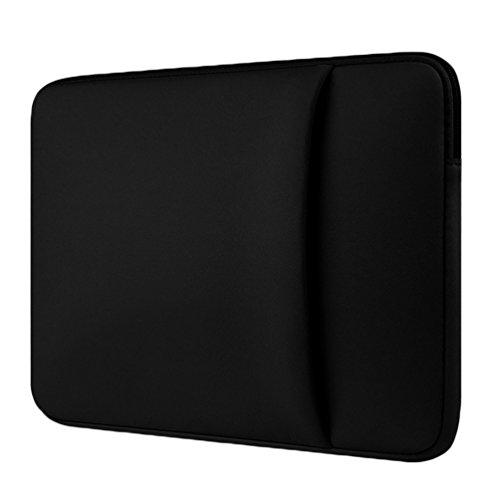 YiJee Laptoptasche Notebooktasche Water Resistant Laptop Hülle Netbook Tasche 12 Zoll Schwarz 1