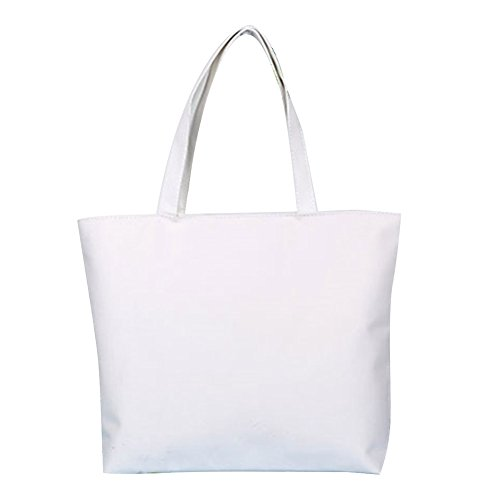 lumanuby Lady Bag Leinwand Große Platz Casual Shopper Einkaufstasche Handtasche grau, weiß, 42CM*32CM*9CM