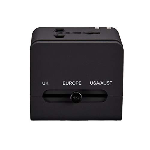 BAI-Light Weltweiter Reiseadapter, Internationaler All-in-One-Reiseadapterstecker (US, UK, EU, AU) mit Zwei USB-Anschlüssen Holiday Universal Conversion Socket 2St