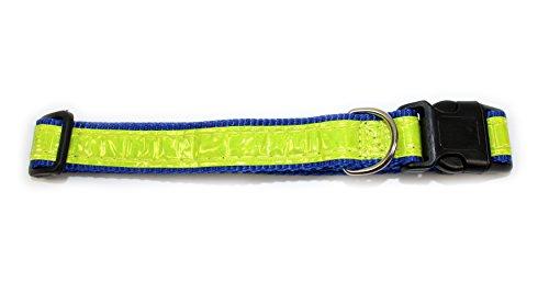 Alta visibilidad reflectante collar perro ajustable