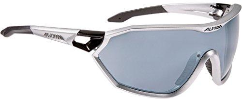 Alpina S-Way cm Outdoorsport-Brille, Silver Matt-Black, One Size