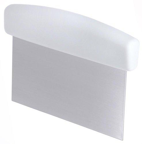Contacto Teigschaber, Teigspachtel, Teigabstecher, 15 x 7,5 cm, mit Acryl-Butadien-Styrol Griff, aus Edelstahl