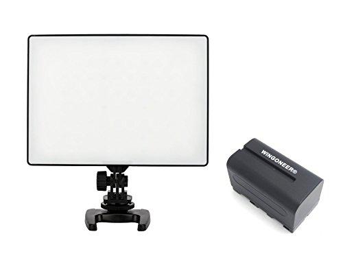 Yongnuo YN-300 Air YN300 Air Pro LED-Videoleuchte 3200K-5500K Farbtemperatur für Canon Nikon DSLR-Kamera DV und Camcorder mit WINGONEER NP-F750 Akku und Ladegerät
