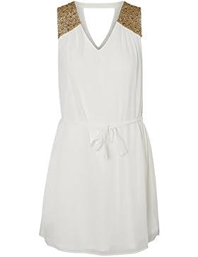 Vero Moda Damen Kleid weiß
