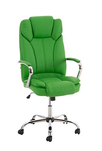 XXL Chefsessel mit Kunstleder-Bezug (Lederlook), kräftiges Grün - Bürodrehstuhl für Schwergewichtige und große Menschen, belastbar bis 210kg