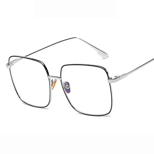 Yiph-Sunglass Sonnenbrillen Mode Sonnenbrille Augenpflege Mode polarisierte Frauen Männer Sonnenbrillen (Farbe : Silber, Größe : Casual Size)
