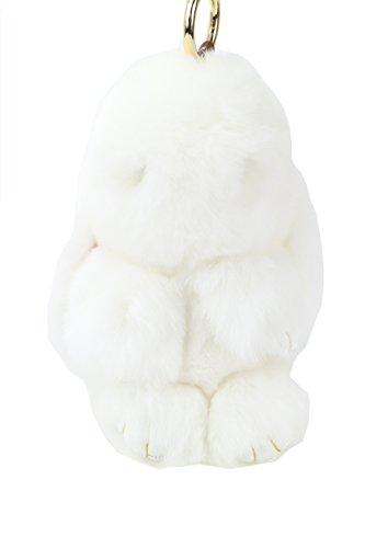 Ysting Pendente della pelliccia del coniglio di Rex reale per la decorazione domestica / borsa Decoration / cellulare della decorazione / decorazione dell'automobile, circa 20 cm