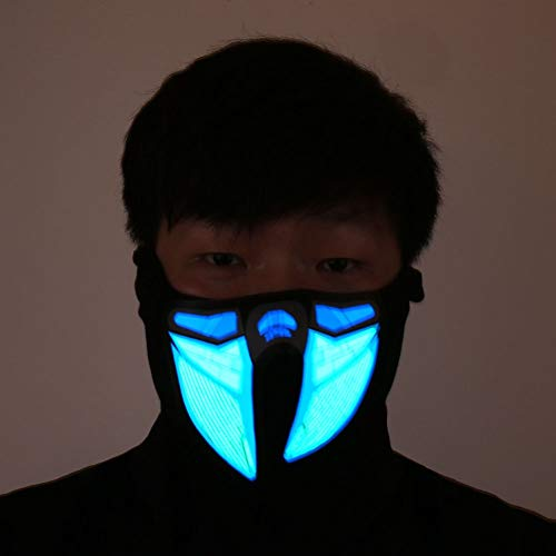 HITSAN INCORPORATION Halloween LED Light Airsoft Mask Luminous Glowing Flash Cosplay Masks Mascaras Disfraces Carnaval Party Supplies Christams Decor