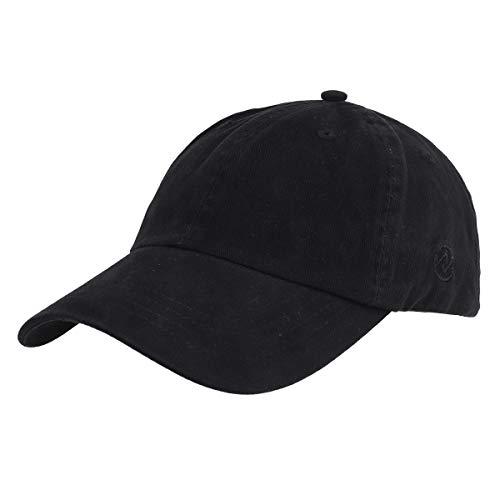 Gisdanchz Gorras De Hombre Beisbol Visera Gorra Hombre Gorras Beisbol Verano Deporte Washed Plain Baseball Cap For Men Adjustable Dad Hat Low Profile Polo Hats For Man Negro