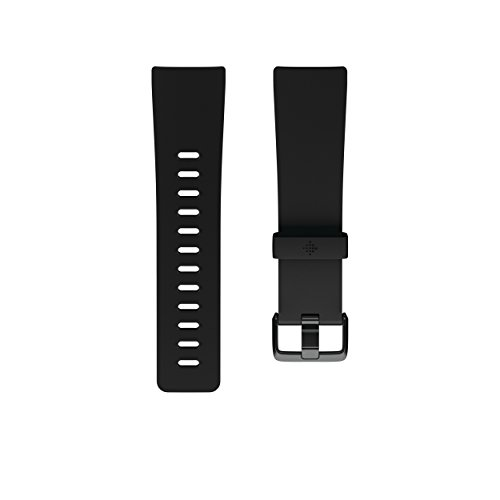 Fitbit Versa Smartwatch Accessory Band, Schwarz, L