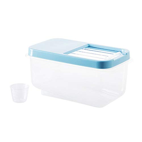 Pet Food Container Hund Katze Tier Lagerplatz Vogel Samen Box Flip Top Locking Deckel Mit-10 kg (Farbe : Blau) - Top Lebensmittel-lagerung-container