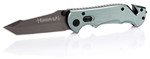 Nature is Adventure® Scharfes Klappmesser inkl. Gürteltasche - kleines Einhand Messer Taschenmesser für Survival und Outdoor - auch als Geschenk - 2