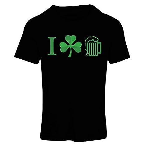 T shirts for women The Symbols of St. Patrick's Day - Irish Icons (Medium Black Multi Color)