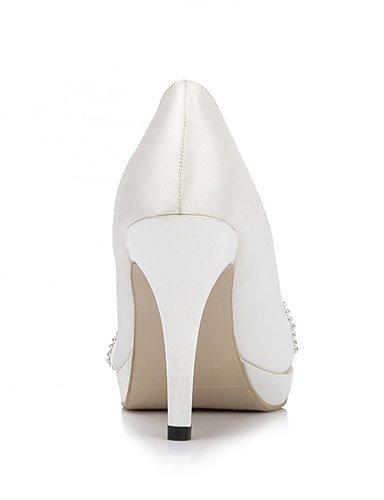 WSS 2016 Chaussures de mariage-Ivoire / Blanc-Mariage / Habillé / Soirée & Evénement-Talons / A Plateau-Chaussures à Talons-Homme 4in-4 3/4in-white