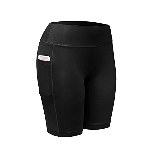 Yalatan Damen Kompression Sport Kurze Hosen Yoga Running Fitness Stretch Tights Shorts (Tights Running Short Womens)