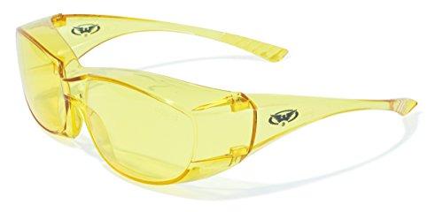 Global Vision Eyewear Oversite Serie Sicherheit Gläser, gelb