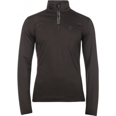 Protest 3710400-290-M Mens Willowy True Black Zip Top - Size M