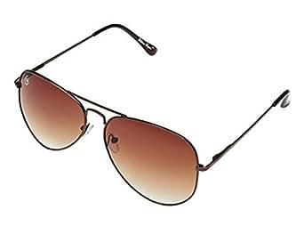 William Cooper Aviator Sunglasses (Shiny Brown) (WCX-4085-C8)