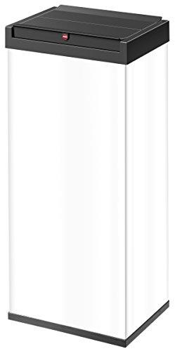 Hailo 0860-231 Poubelle, Acier Inoxydable, Blanc, 26 x 34 x 77 cm