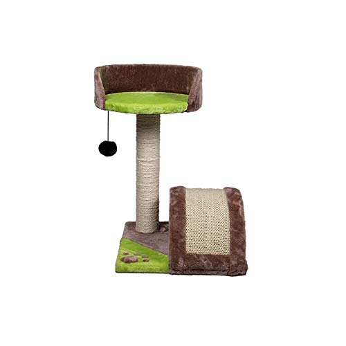 PET Supplies Cat Climbing Frame Tree Cat Grab Column Sisal Carpet Paw Print Plush Cloth Toy Luxury stable Scratch-resistant Durable Comfortable Breathable Environmental Protection -