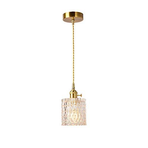 Moderner Kristall glas Pendelleuchte Kreativer hängeleuchten aus Messing Innen Art Deco Beleuchtung für Wohnzimmer Schlafzimmer Küche Flur E27