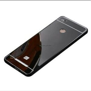 AMFIN For Xiaomi Redmi 3S Prime Luxury Mirror Aluminium Metal Bumper Back Cover Case For Redmi 3S Prime Mirror Back Cover - Black