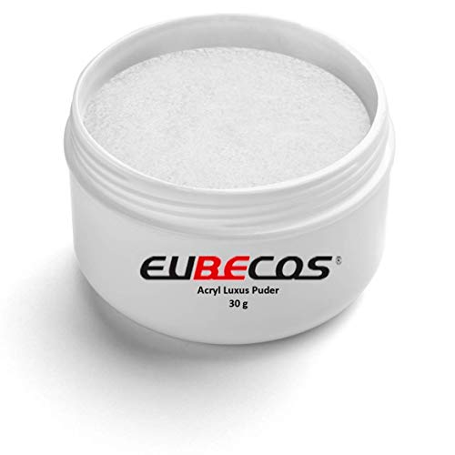 EuBeCos HOCHWERTIGES Acryl Luxus Puder - 30g - 01 Klar Lufthärtendes Powder EXTRAFEIN! MADE IN GERMANY