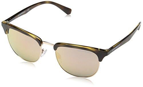 Emporio Armani Unisex-Erwachsene Earmani 4028Z Sonnenbrille, Braun (Brown 50264z), 52