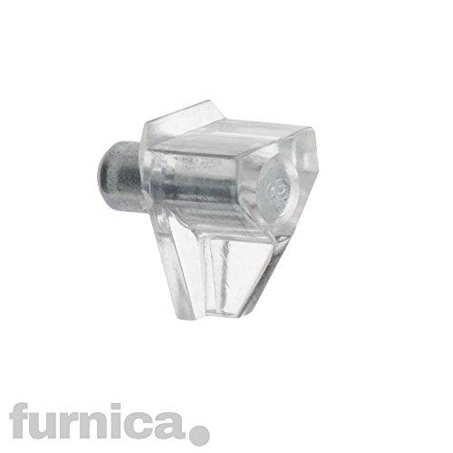 FURNICA Soportes estantería varilla acero Plastique