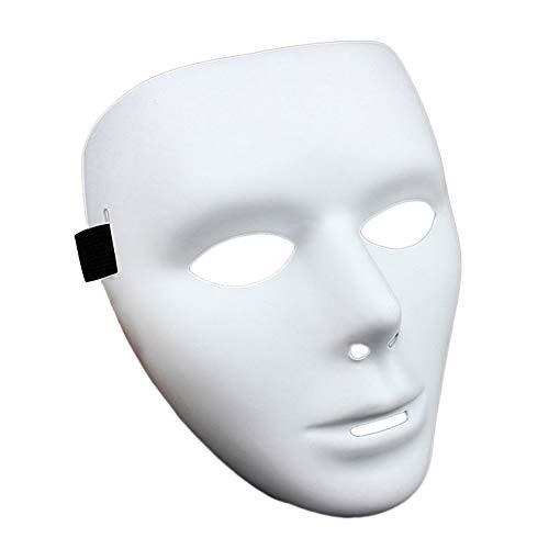 Ndier Masquereade Maske für Männer Vollmaske DIY Masquereade für die Partei Maske, weißer Venetian Carnival (Maskerade Masken Kerl)