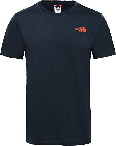 THE NORTH FACE Herren Simple Dome T-Shirt, Urban Navy/Fiery Red, S North Face Dome