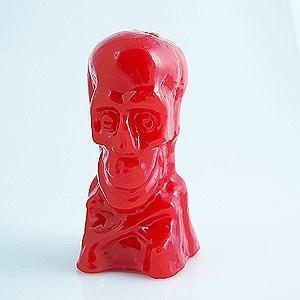 Ritual Rot Totenkopf Kerze 12,7cm–Liebe und Leidenschaft–Calavera Roja
