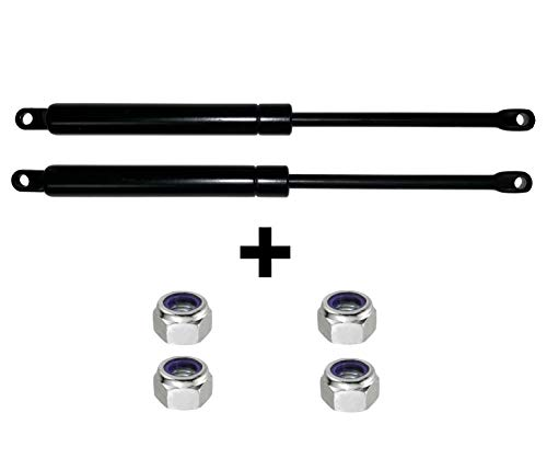 TECHNILATT Pack 2 amortiguadores para canape abatible de 135/150 cm (1250 Newtons) + Tuercas autoblocantes