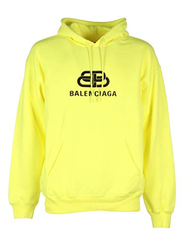 Balenciaga Herren 583215Tfv617050 Gelb Baumwolle Sweatshirt