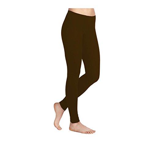 Leggings en Viscose stretch en Lycra pour femme-Tailles 36–52 Fabriqué au Royaume-Uni Marron chocolat foncé