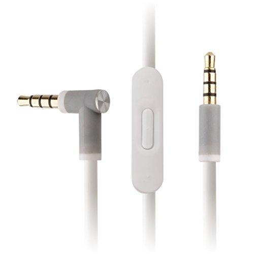 Reytid beats-16sostituzione cavo audio con telecomando e microfono In-line per Beats by Dr. Dre SOLO2/SOLO2cuffie senza fili–bianco