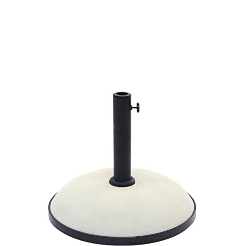 BUTLERS The Rock Schirmständer rund Ø 36 cm - Schwarz-Weißer Sonnenschirmständer aus Zement 11 kg - Verstellbare Größe