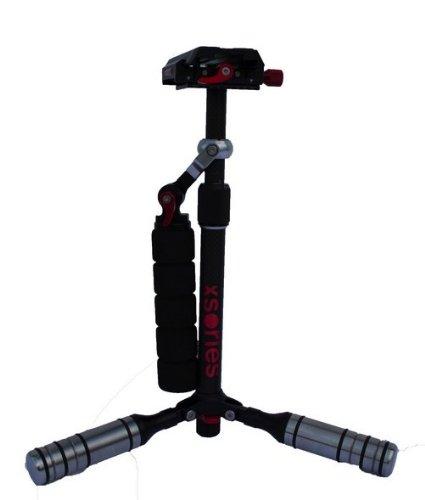 X-Sories Edelstahl und Carbon-Faser X-Steady Cam für Kamera silber (Steady Cam Pro Go)