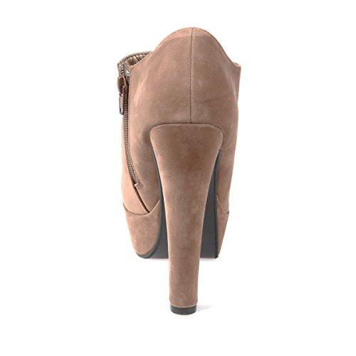 boots plateforme Modeuse aspect Taupe La daim à Low xA6nWRE