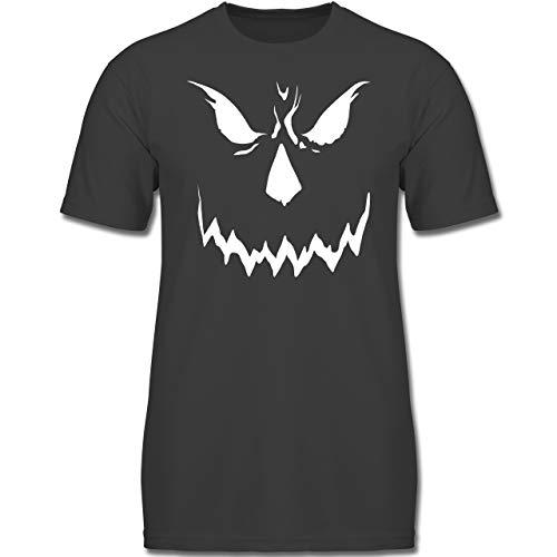 Anlässe Kinder - Scary Smile Halloween Kostüm - 116 (5-6 Jahre) - Anthrazit - F130K - Jungen Kinder T-Shirt (Gruppe 6 Halloween Kostüme)