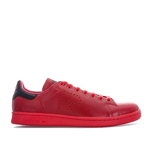 c4ee6b545b006 adidas Mens Originals Mens RAF Simons Stan Smith Trainers in red Black - UK  7.5