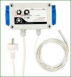 GSE Klima-Regler, Drehzahlregler für Temperatur und Unterdruck, 230 V, max. 2x 600 W -