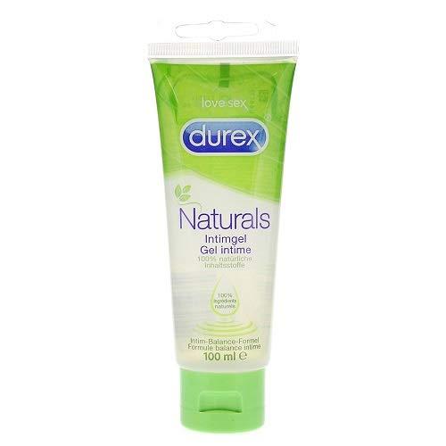 Durex Naturals Gleitgel auf Wasserbasis - Gleitgel aus 100{16df453be3e1dda94ba55e08af7c2cd5e6a257e8b55e2662d6c309c616d6ef0b} natürlichen Inhaltsstoffen und mit Intim-Balance-Formel - 1 x 100 ml in der Tube