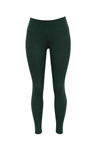 YACUN Les Femmes Taille Haute Dépendance Physique La Cheville Pantalons Skinny Jambières Darkgreen