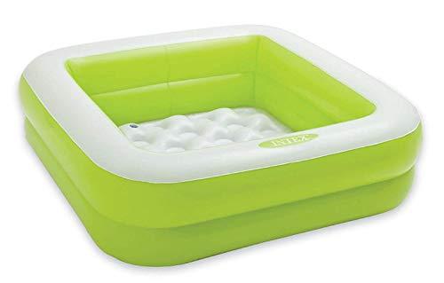 Baby Kinder Planschbecken Pool mit weichem Boden 85x85x23cm in grün