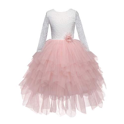 k Mädchen Kleid Outfits Kind Prinzessin Party Kostüm mit Ärmeln - Ballkleid Hochzeit Brautjungfer Prom Geburtstag Strand ()