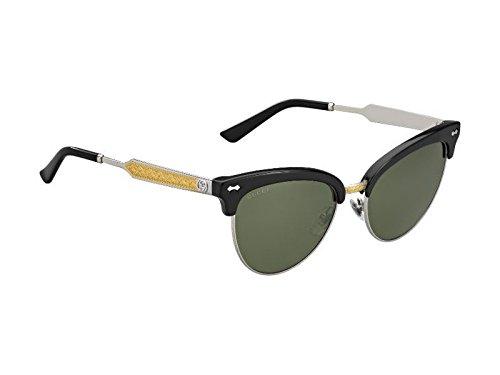 Gucci Herren Sonnenbrille schwarz/silber